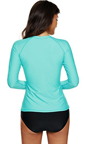 CharmLeaks - Maillot une pièce - Body chemise - Fille Women Aqua