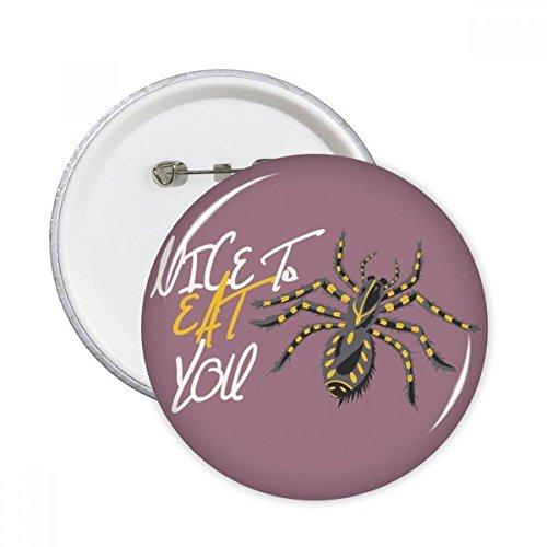 Spider Cobweb Illustration Muster Rund Pins Badge Button Kleidung Dekoration 5x Geschenk xl mehrfarbig (Spider Dekorationen)