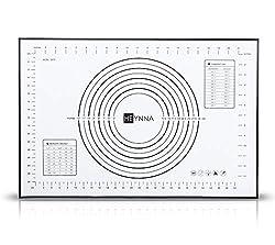 HEYNNA® Premium Silikon Backmatte/rutschfeste Backunterlage 60x40cm - Silikonmatte zum Kochen und Backen als Teigmatte, Backofenfest, 100% BPA frei