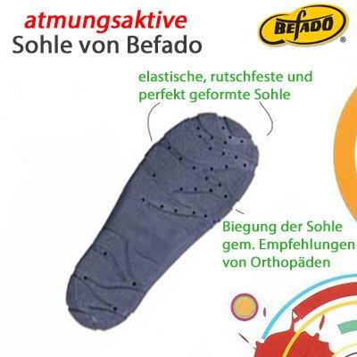 BEFADO Jungen Hausschuhe Freizeitschuhe ATMUNGSAKTIV 975X Muster-1