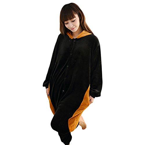 rren Cosplay Tierkostüm Schlafanzug Pyjamas Jumpsuit Overall Einteiler, Waschbär, L (Körpergröße 170-178 CM) (Sport Figuren Halloween Kostüme)
