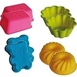 2 Muffin-Backformen, 6cm bis 8cm, Silikon, Mini-Förmchen