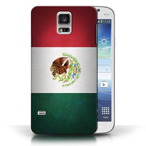 Coque en plastique pour Samsung Galaxy S5/SV Collection Drapeau - Pays de Galles/gallois Mecico/Mecican