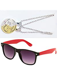 Sheomy Combo Of Friendship Coin Best Friends Pendant And Black Red Wayfarer Sunglasses Best Online Gifts