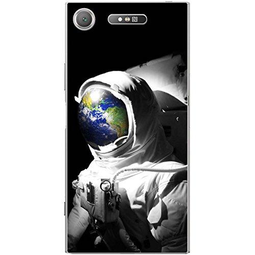 Astronautenanzug & Spiegelbild der Erde Hartschalenhülle Telefonhülle zum Aufstecken für Sony Xperia XZ1