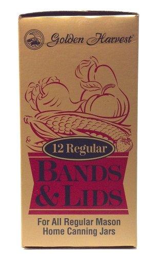 golden-harvest-12-regular-bands-and-lids-for-all-regular-mason-home-canning-jars-by-golden-harvest