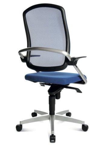 Topstar Bürodrehstuhl S Move op 10 blau – Doppelrollen-Set für Teppichböden - 4