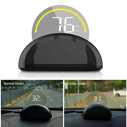 Head-up Display C700 Anzeige des OBD II Eobd-Systemmodells Km/H Mph Geschwindigkeitswarnung, Ermüdungswarnung, Alarm Für Niedrige Spannung/Hohe Temperatur -