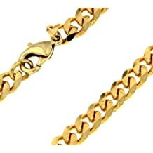 TENDENZE Collar Cadena Gourmette 18k oro doublé 5,3mm longitud seleccionable directamente desde la fábrica