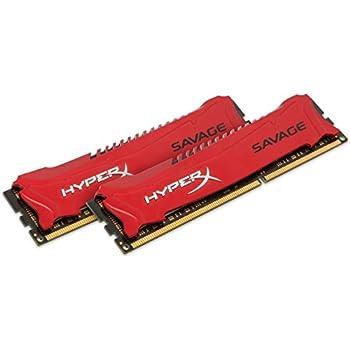 HyperX HX318C9SRK2/8 Savage 8 GB (2 x 4 GB) 1866 MHz DDR3 CL9 DIMM XMP Memory Module, Red