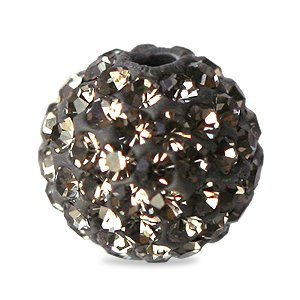 I-Beads - Perle Style Shamballa Ronde Deluxe Black Diamond 10mm (1)