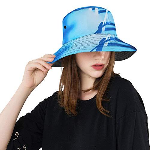 Circle Joining Paper Figure New Summer Unisex Cotton Fishing Sun Bucket Sombreros para niños Adolescentes Mujeres y Hombres con Personalizar Top de Pescador Empacable para Viajes al Aire Libre