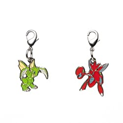 Pokemon Center National Pokedex Metal Charm 123 212 Scyther Scizor