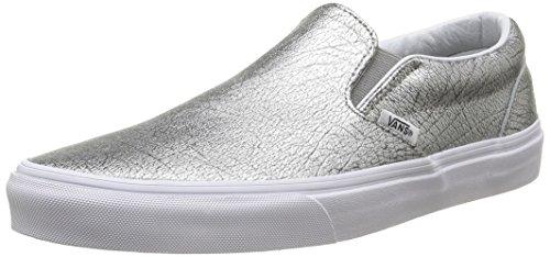 Vans Classic Slip-On Scarpe Sportive Outdoor, Unisex Adulto, Argento (Foil Metallic/Silver/True White), 39