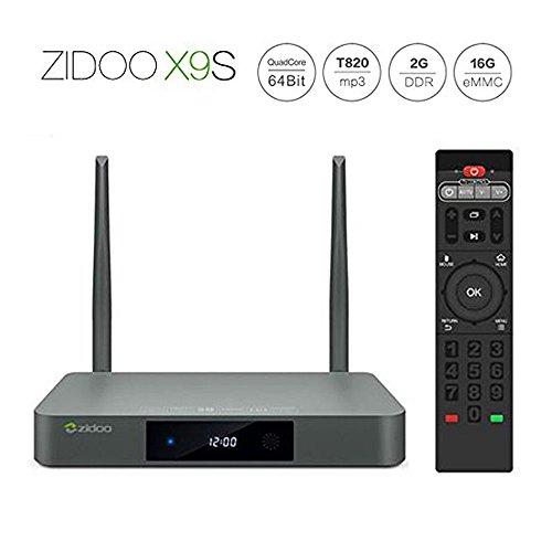 ZIDOO X9S TV Box Android 6.0 + OpenWRT(NAS) Duales System RTD1295 2G/16G WIFI Bluetooth 4.0 1000M LAN USB3.0 Support Aufzeichnung/HDMI IN/UHD H.265/10bit /HDR10 4K TV Box