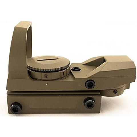 MAYMOC pista de fondo ajustable de 21mm. Láser visión Multi retícula 4 rojo punto vista alcance montar cola de Pato caza y accesorios de la cámara al aire libre