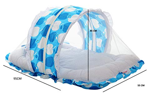 VParents Jumbo Extra Large Baby Bedding Set with Mosquito net and Pillow (0-20 Months) (Blue) Image 3