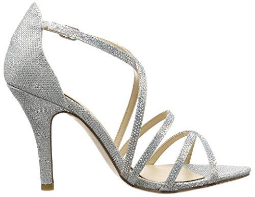 Paco Mena Astrantia, Sandales Bride cheville femme Argent - Silber (Silber)