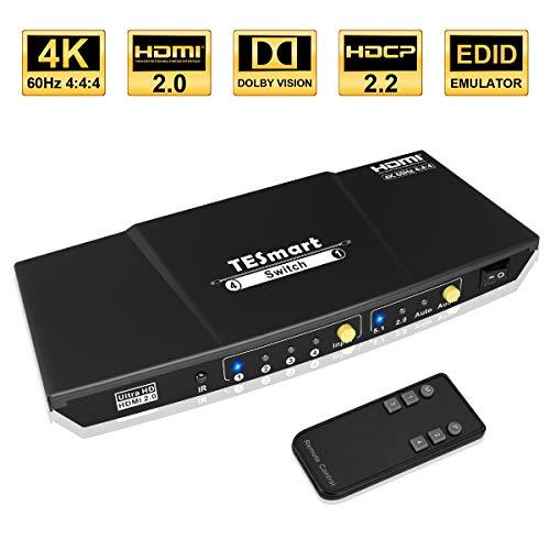 TESmart 4x1 HDMI Switch 4K Conmutador HDMI 4 Entradas