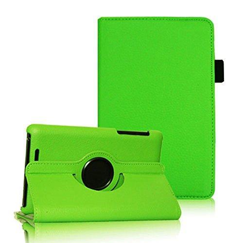 COOVY® Cover für Google ASUS Google Nexus 7 (1. Generation Model 2012) Rotation 360° Smart Hülle Tasche Etui Case Schutz Ständer Auto Sleep/Wake up | Farbe grün (Case Nexus 7 Grüne)