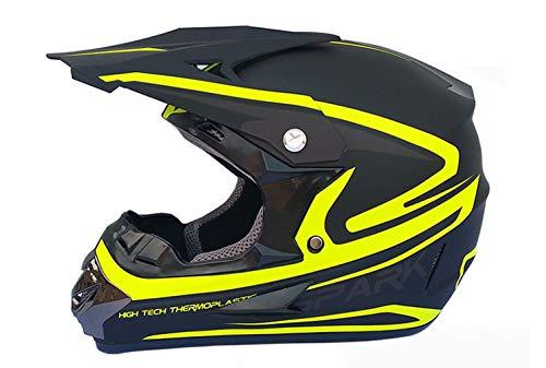 SSYWX Offroad-Motorrad, Mountainbike-Integralhelm, Vier-Jahreszeiten-Motorrad-Offroad-Helm, ECE-geprüft, S-XL (52-59) (L)