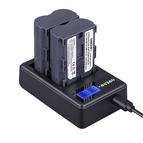 BP-511 Camcorder Akku (2-Stück Ersatzakku) mit USB-Dual Ladegeräte für Canon EOS 50D 40D 30D 20Da 20D 10D 5D 300D Digital Rebel D30 D60 PowerShot G6 G5 G3 G2 G1 Pro 1 Pro 90 is