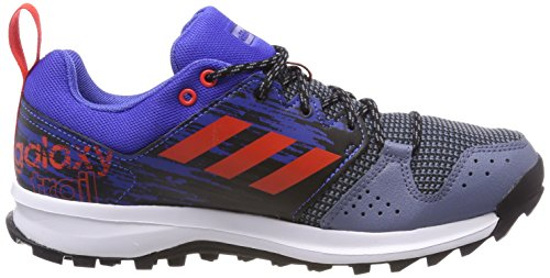 adidas Herren Galaxy Trail Laufschuhe Blau (Raw Steel S18/hi-res Red S18/hi-res Blue S18 Raw Steel S18/hi-res Red S18/hi-res Blue S18)