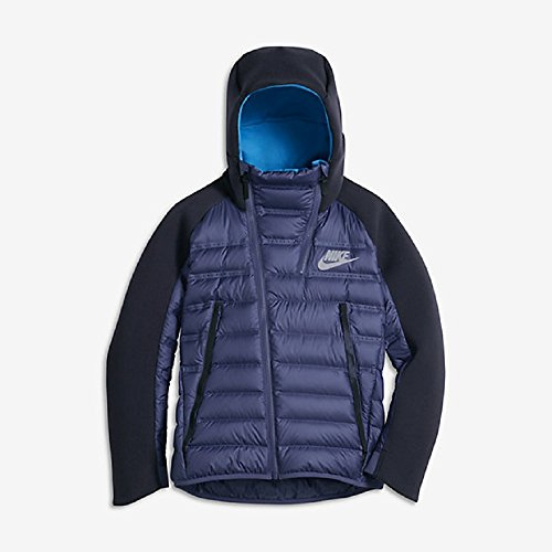 Nike NSW TCH FLC B ARLFT JKT Veste pour enfant Morado (Dk Purple Dust / Obsidian / Lt Photo Blue)