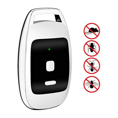 GuDoQi Tragbar Schädlingsbekämpfer Wiederaufladbarer USB Ultraschall Insektenschutzmittel zur Schädlingsbekämpfung Umweltfreundlich, Sicher für Mensch und Tier für Camping auf Reisen -