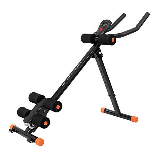 TechFit AB1000 Appareil à Abdominaux Pliable, Vertical, Equipement de Fitness Vertical, Support pour Un Abdomen Ferme, Appareil pour la Taille, Plateforme de Résistance (Noir)