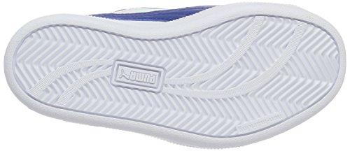 Puma Smash Fun L V Ps, Sneakers Basses Mixte Enfant Blanc (Puma White-true Blue 12)