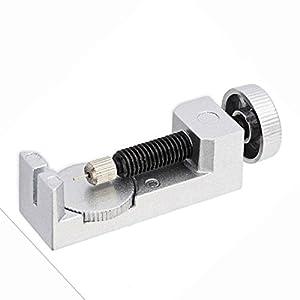 Profesional Banda de reloj Enlace Pin Remover Reparación Herramienta Práctica de metal ajustable color plateado de CY-Buity