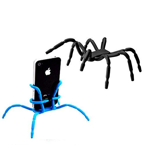 Koala Group® Flexible Spinne beweglichen Standplatz / Auto-Halterung Halter Universaltelefon -Auto-Halter Halterung und Ständer für iPhone 6 6s 6Plus, 6S plus, 5S, 5C, 5, 4S, Samsung Galaxy & Android und mehr (Blue)