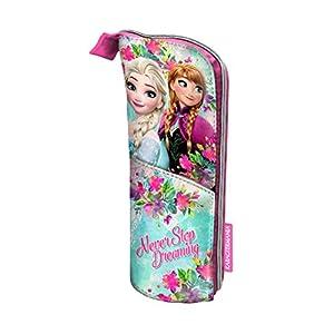 Disney Frozen Estuche portatodo Vertical, Color Turquesa, 21 cm (Karactermanía 33633)