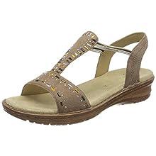 ARA Women's Hawaii T-Bar Sandals, Beige (Taupe 75), 6 UK