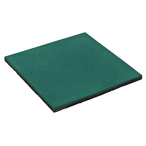 FATMOOSE Dalle de caoutchouc SoftSafe L Tapis anti chute 50x50x2,5cm, vert