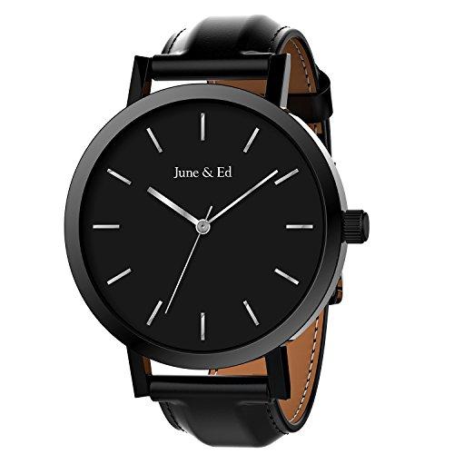 6c5617099 June & Ed Cuarzo Reloj de Hombre, con Ac en Amazon