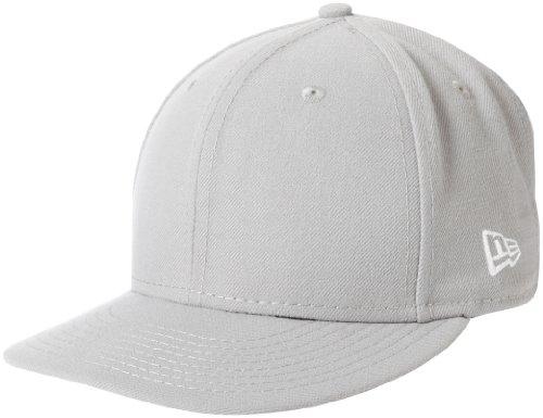 New Era Blanks 59FIFTY Schlichte Baseballkappe, einfarbig, Herren, grau