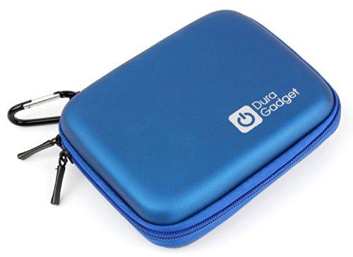DURAGADGET Hartschalen-Tasche, blau mit Reißverschluss für MEDION LIFE Digitalkameras