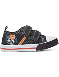 Koo-T Chatterbox Infant Toddler Young Boys Canvas Trainers plimsolls Pumps Shoes Strap Closure Size Infant 4 5 6 7 8 9 10 11 12