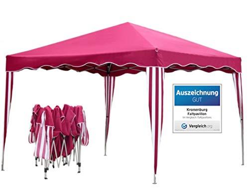 Kronenburg Falt Pavillon Dachmaß 3 x 3 m Gartenzelt Partyzelt in Rot