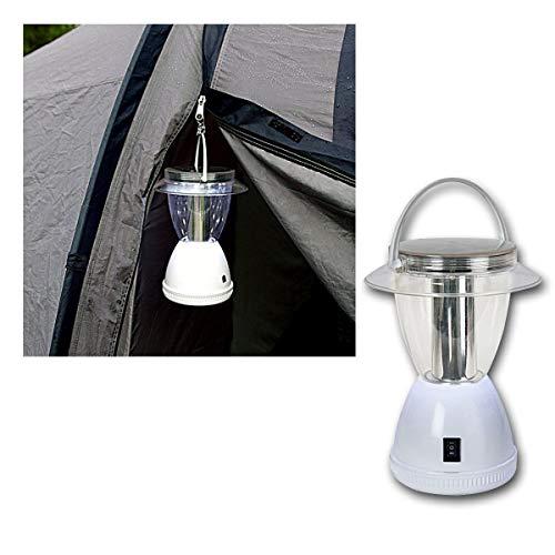 Best Season 479-50 Lanterne solaire de camping à LED avec 12 LED blanc froid et panneau solaire 2 fonctions 15/50 lm Batterie incluse Blanc 22 x 16,5 cm