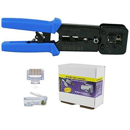 Platinum Tools 100054 EZ-RJPRO HD Crimp Tool with EZ-RJ45 Cat 6+ 100 Connectors by Platinum Tools