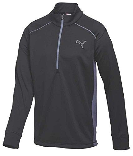 Puma Golf Herren Half Zip Essential Popover Fleece Pullover 568249Pullover, schwarz / grau, S (Sweater Golf Half Zip)