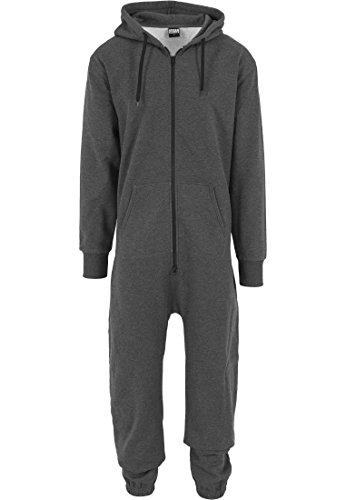 Urban Classics Herren Strampelanzug Sweat Jumpsuit Black/Fuchsia