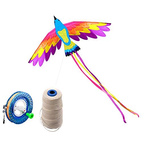 Cometas de aves coloridas de 180 * 90 cm para niños y adultos: diseño enorme y realista, muy fácil de volar, se ve genial en el cielo