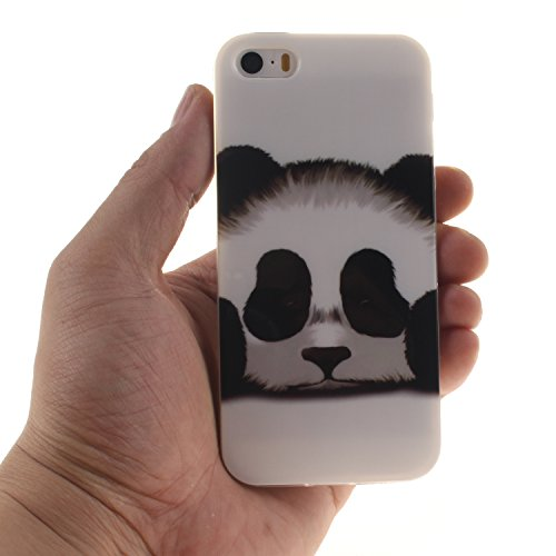 Pour iphone 5/5S/SE Coque,BLKJ Coque iPhone 5S TPU Clear Silicone Étui Housse Protecteur - 1 Gratuit Touch Pen (iphone 5/5s se, Mathematical Formula) Panda