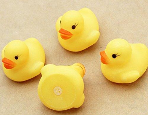Ularma 12 Gummi Ente Entchen Bad Baby Dusche Spielzeug Party Gefälligkeiten Spielzeug Gelb Ente - 4