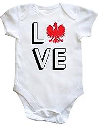 HippoWarehouse love Polonia Baby Body chaleco (manga corta) niños niñas