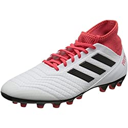 Adidas Predator 18.3 AG, Botas de fútbol para Hombre, Blanco (Ftwbla/Negbas/Correa 000), 42 EU